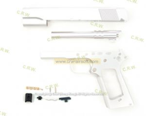 Nova SFA Bureau Metal Body Kit for Marui 1911A1 (Silver)